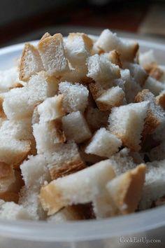 Σπιτικά κρουτόν, ευκολάκι αλλά προσοχή στην λεπτομέρεια ⋆ Cook Eat Up! Apple Pie, Cereal, Breakfast, Desserts, Recipes, Food, Morning Coffee, Tailgate Desserts, Deserts