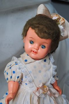 Vintage Doll - Boneca da Estrela antiga boneca fabricada em baquelite pela marca de brinquedos Estrela anos 50:
