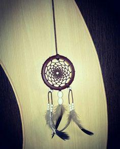 Aura's Nutmeg Wood Finish Dreamcatcher Necklace