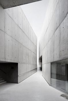 Image 1 of 23 from gallery of MAAVC / Camilo Rebelo + Tiago Pimentel. Courtesy of Camilo Rebelo + Tiago Pimentel Concrete Architecture, Minimal Architecture, Museum Architecture, Space Architecture, Contemporary Architecture, Amazing Architecture, Installation Architecture, Concrete Facade, Building Architecture