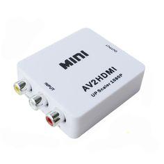 Mini RCA CVBS AV To HDMI Converter Adapter For VCR DVD 720P 1080P