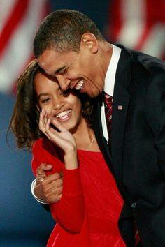 Obama & daughter