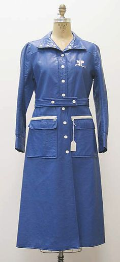 Coat André Courrèges (French, born 1923) Date: ca. 1972 Culture: French Medium: a, b) cotton, synthetic
