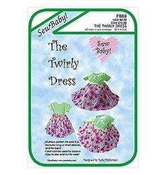 Sew Baby Girl's Twirly Dress Pattern SBF869