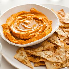 These Sweet Potato Hummus and Cumin Flatbread Chips is an ideal snack or appetizer recipe. The Sweet Potato Hummus is so creamy and delicious.