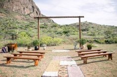 Stylish Texas desert ceremony site
