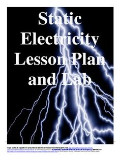 Static Electricity Lab: This is a middle school static lab. It consists of an explanation, with diagrams, of static electricity and then five stations of activities for students to explore static electricity. It also has summary questions for them to answer to process and assess their knowledge.