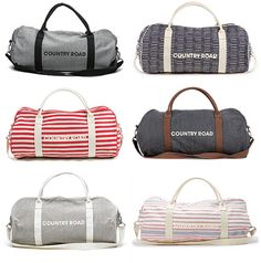 Australian Country Road Bags- essential over night bag for guys!!! Too bad they don't ship to Canada!!!