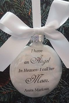 In Memory of Parents Memorial Christmas Ornament - Feather ...