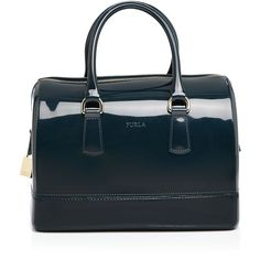 Furla Candy Satchel ($248) ❤ liked on Polyvore featuring bags, handbags, petrolio, satchel purse, blue handbags, furla, satchel handbags and furla bags