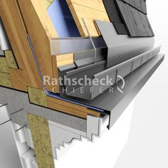 Zinc roofing, façades and guttering DWG drawings and catalogues House Cladding, Timber Cladding, Facade House, House Facades, 2 Bedroom House Plans, Barn House Plans, Roof Detail, Slate Roof, Roof Architecture