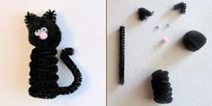 pipe cleaner cat craft