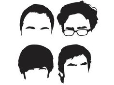 Amazon.com: Cooper, Hofstadter, Wolowitz, Koothrappali - Silhouette - Big Bang Theory - Vinyl Decal: Everything Else