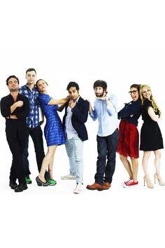 Kaley Cuoco, Melissa Rauch, Mayim Bialik, Johnny Galecki, Jim Parsons, Simon Helberg & Kunal Nayyar (The Big Bang Theory)