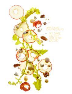 .Apple and Chevre Salad - Sweet Paul
