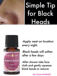 Getting rid of blackheads https://www.facebook.com/Younglivingactivelifestyle