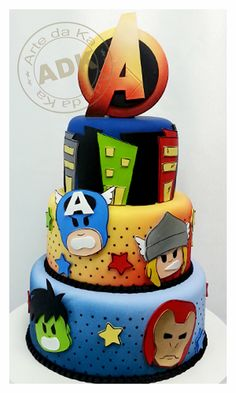 Avengers Tiered Cake