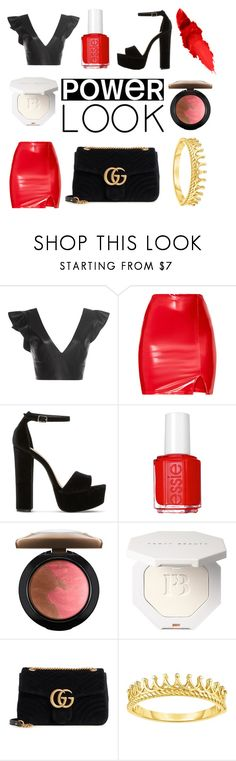 """""""GRL PWR"""" by andreacaballeroo ❤ liked on Polyvore featuring Isabel Marant, Steve Madden, Essie, MAC Cosmetics, Gucci, girlpower and powerlook"""