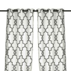 Grand Manor Gray Curtain Panel Set 96 In