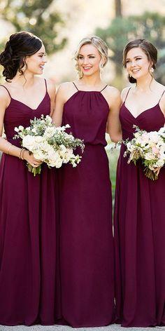 Burgundy Bridesmaid Dresses Long, Wedding Bridesmaid Dresses, Bridal Dresses, Bridesmaid Ideas, Wedding Gowns, Chiffon, Buy Cheap, Cheap Dresses, Dresses Dresses
