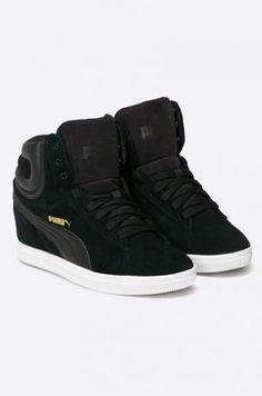 Adidasi Puma cu platforma ascunsa piele intoarsa High Tops, High Top Sneakers, Adidas, Shoes, Fashion, Moda, Zapatos, Shoes Outlet, Fashion Styles
