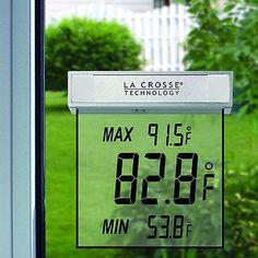 La Crosse Technology LCD Outdoor Window Weather Thermometer Farenheit New in Box