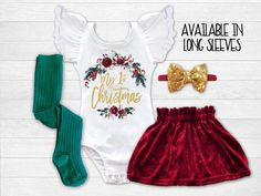 e26a478f5060 #babyclothes #babyfashion Baby Girl 1st Christmas Outfit First Christmas  Dress Newborn Christmas Outfit Infant