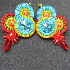 #Soutache #studearrings #clip-on #clips #earrings  #Colorful #multicolor #rainbow #colored #crystals #blue #orange #red #jewelry #jewelrydesigner #jewellery #jewellerylove #jewelrylove #earringslove #earringaddict #jewelryshop #jewelrystore #jewelleryshop #jewellerystore #etsy #etsyseller #etsyshop #earringshop #birthdaypresents #anniversary #anniversarygifts #valentines #valentinesday #valentinesgift #valentinesdaygift #girly #girlythings #partyjewelry #partywear #beach #beachgirl #ethnic