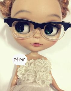 Super Rayban Nerdglasses for blythe by 24PM on Etsy,