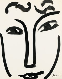 An important ink and brush drawing by Henri Matisse will be offered in the forthcoming Œuvres sur Papier sale on 23 March in Paris. Brush Drawing, Paper Drawing, Line Drawing, Paper Art, Henri Matisse, Matisse Drawing, Matisse Art, Abstract Face Art, India Ink