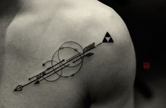 Arrows for Mike - artwork and tattoo by Elizabeth - www.tattootemple.hk