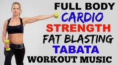 30 Minute Cardio Strength Tabata Workout, Full Body Fat Burning Cardio + Weights - YouTube