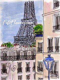 Eiffel Balconies by Fifi Flowers