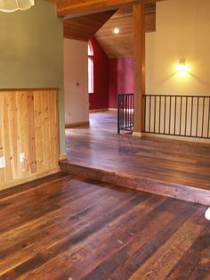 Barn Wood Flooring - Blank House Room with Barn Wood Flooring