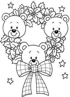 Desenhos de ursinhos no natal para colorir Make your world more colorful with free printable coloring pages from italks. Our free coloring pages for adults and kids. Teddy Bear Coloring Pages, Cute Coloring Pages, Printable Coloring Pages, Free Coloring, Coloring Pages For Kids, Coloring Books, Kids Coloring, Christmas Colors, Christmas Art