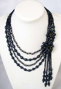 bridesmaid giftbeadwork necklacebib by audreyjewelry on Etsy, $25.00