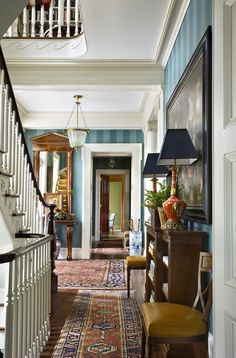 Country house in Millbrook, NY by architect Gil Schafer http://gpschafer.com/portfolio/details/stairs/