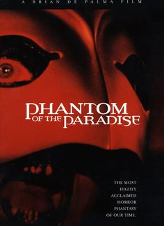 Phantom of the Paradise (1974) | http://www.getgrandmovies.top/movies/6829-phantom-of-the-paradise | Rock Opera version of Phantom Of The Opera with elements of Faust. Record producer Swan steals both the music and the girl (Phoenix) from composer Leach. Disfigured Leach plans revenge on Swan and his rock palace, The Paradise, and becomes The Phantom. Leach signs contract with Swan to complete rock opera based on the life of Faust for Phoenix. Double crossed by Swan who hires heavy metal…