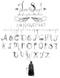 thread font created by Louisa Todd
