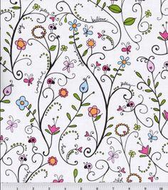 Shop Heidi Grace Reagan's Closet Cotton Fabric Floral Vine & Premium Quilting Fabric at Joann.com