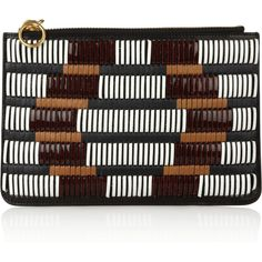Proenza Schouler Chieko woven-leather clutch ($585) ❤ liked on Polyvore