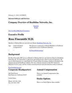 Bloomberg Headline Ross Finesmith MD by Ross Finesmith M.D. via slideshare