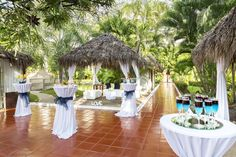 A Tail Wedding Set Up At The Melia Puerto Vallarta