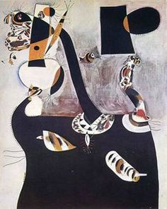 Seated Woman II - (Joan Miro)