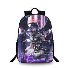 Yu gi oh dark witch logo backpack schoolbag for kid shoulder bag daypack 6