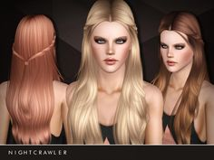 AF Hair 15 Holland Roden's signature looks by Nightcrawler - Sims 3 Downloads CC Caboodle