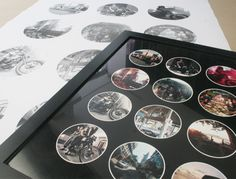 A Look Back: DIY Photograph Poster Prints- Choose 12 pictures from the year and put the year at the bottom.
