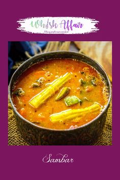 Sambar is a South Indian staple dish which is served for all the meals including breakfast, lunch and dinner. It is a stew of yellow lentils with vegetables and spices added to it. Here is my easy recipe to make the best Sambar Recipe at home. Easy Sambar Recipe, Indian Sambar Recipe, South Indian Chutney Recipes, Indian Dessert Recipes, Sambhar Recipe, Chaat Recipe, Curry Recipes, Vegetarian Recipes, Cooking Recipes