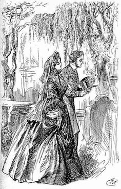 "Estella And Pip. ""I saw no shadow of another parting from her."" [Closing lines of the novel, Chapter 59.]    Dickens's Great Expectations"