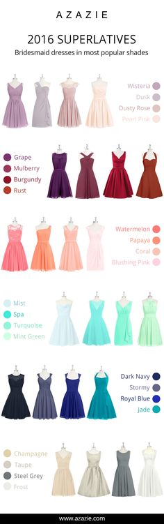 Azazie is the online destination for special occasion dresses. Our online boutique connects bridesmaids and brides with over 400 on-trend styles, where each is available in 50 colors. Bridesmaid Dress Colors, Wedding Bridesmaid Dresses, Prom Dresses, Wedding Ideias, Dresscode, Mode Style, Special Occasion Dresses, Just In Case, Wedding Colors